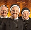 Pictured (from left): Sister Elizabeth Mary Knight, ASCJ, 79; Sister Carolyn Capobianco, ASCJ, 99; Sister Bridget Esposito, ASCJ, 96